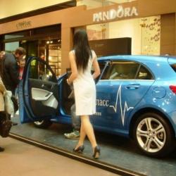 Модели на выставку Mercedes